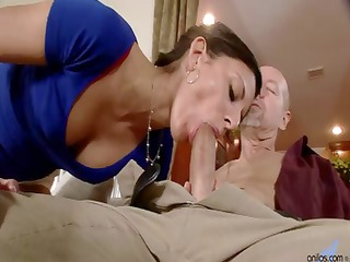 slender wife comes home and blows spouse