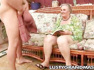 wicked granny margots shaggy slit for youthful rod