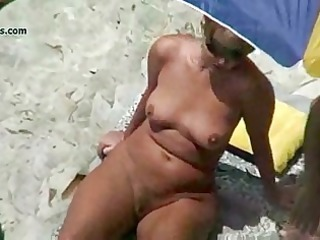 exposed beach aged voyeur 5some