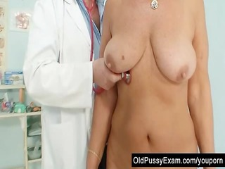 hawt breasty granny tits and fur pie gyno checkup