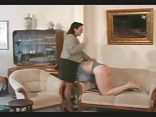 granny belts and spanks the lad pt10