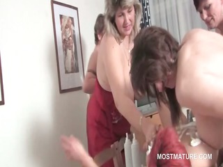 fuckfest lesbian matures take up with the tongue