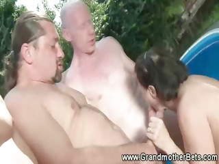 freaky granny gets double the pleasure
