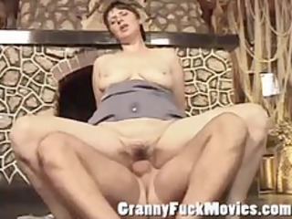 dirty older bitch receives a hard jock in her old