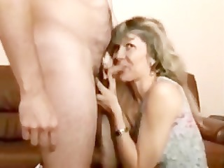 cougar golden-haired gets screwed in stockings