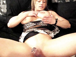 muscle chick, dildo, bulky cookie