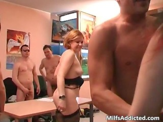 group sex party with three-some old mother i