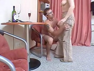 russian mamma brunette hair hair mature with a